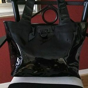 Salvatore Ferragamo Patent Leather Tote Bag